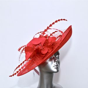 Statement Mother of the Bride Hatinator in Deep Rasperry 16365/SD282